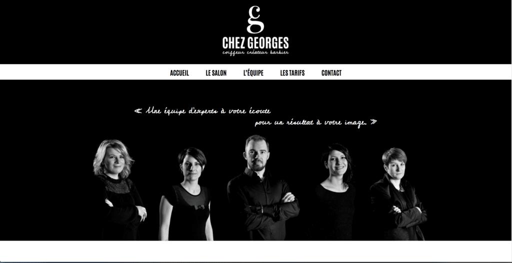 Site web Chez Georges Coiffeur Créateur Barbier