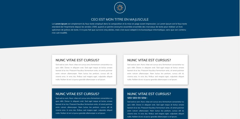 Site internet Boîte d'Actions